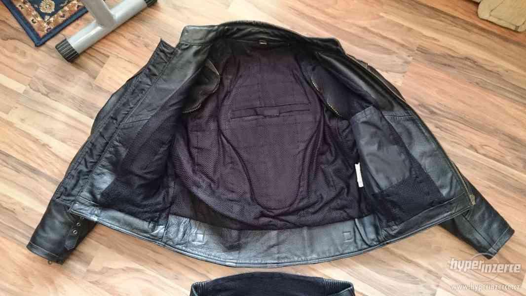 Motorkářská kožená bunda a kalhoty EuroCycles - foto 4