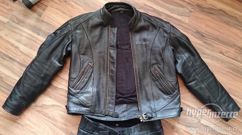 Motorkářská kožená bunda a kalhoty EuroCycles
