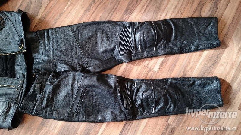 Motorkářská kožená bunda a kalhoty EuroCycles - foto 3