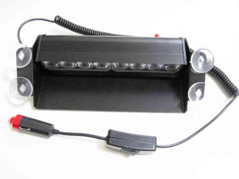 Policejní MODRÝ maják 8x vysoce výkonné LED diody