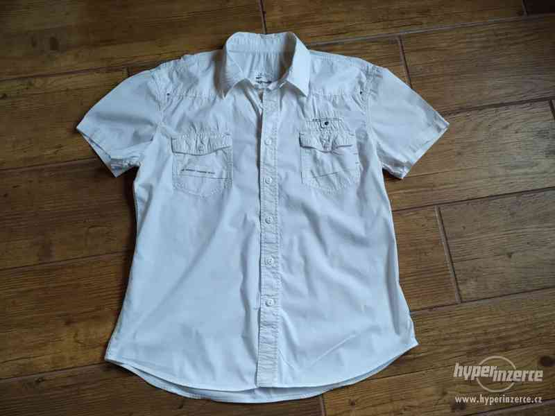 Bílá UNI lehká košile New Max Trend, vel. L/XL