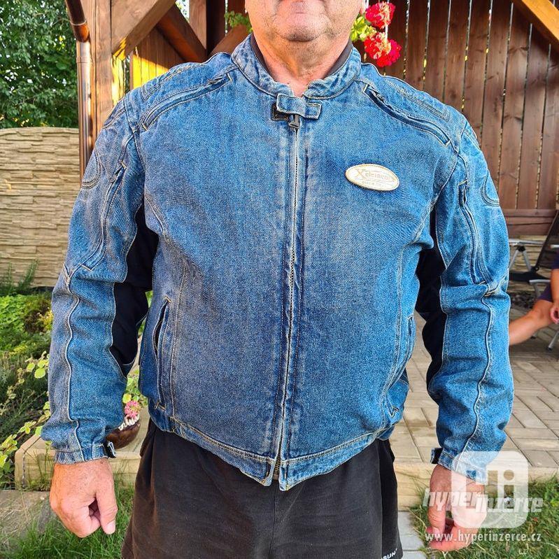 Motorkářská džínová bunda - foto 1