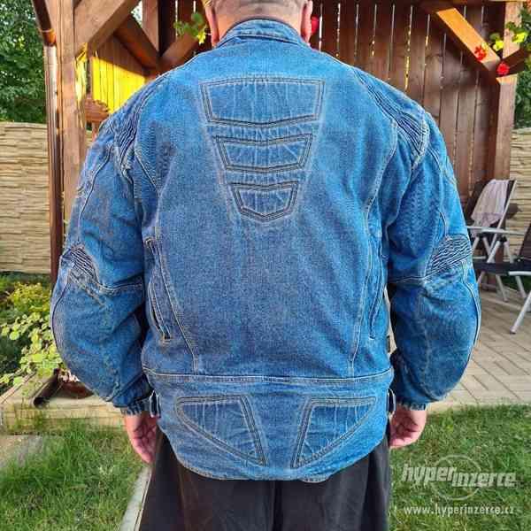 Motorkářská džínová bunda - foto 2