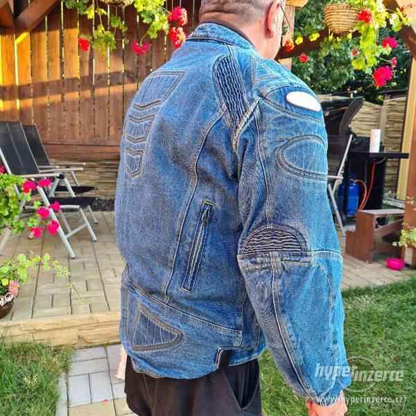 Motorkářská džínová bunda - foto 3
