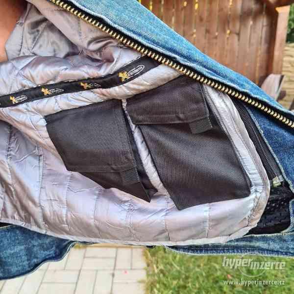 Motorkářská džínová bunda - foto 4