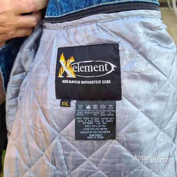Motorkářská džínová bunda - foto 5