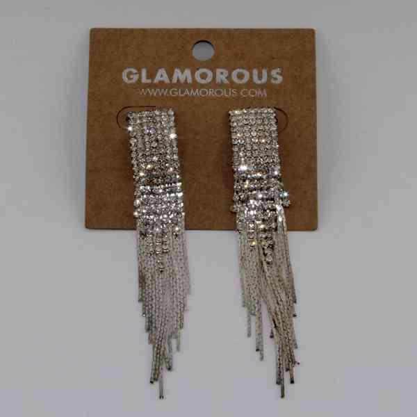 Glamorous - Visací kamínkové elegantní náušnice Velikost: OS