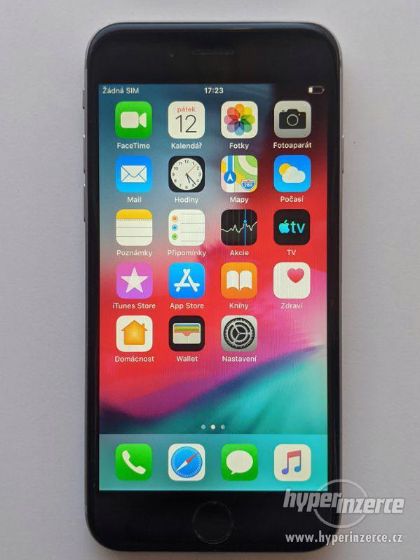 iPhone 6 16GB šedý, baterie 100% záruka 6 měsícu