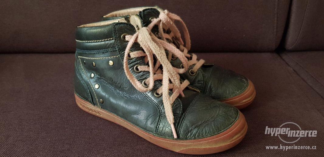 Modrorůžové celoroční kotníčkové boty D.D.Step