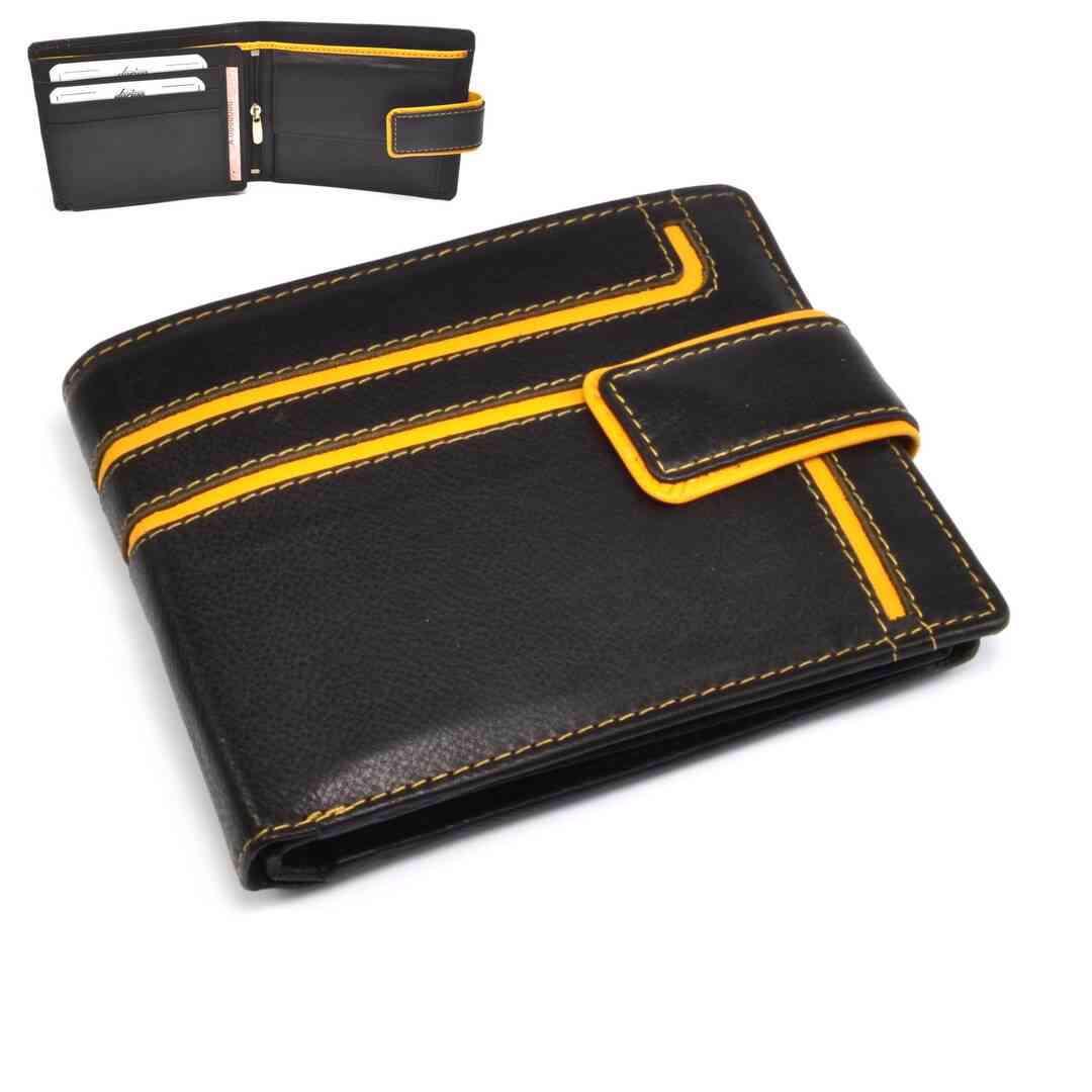 Kožená peněženka pánská s přeskou - foto 1