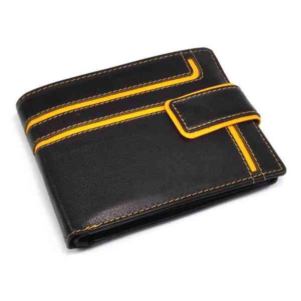 Kožená peněženka pánská s přeskou - foto 2