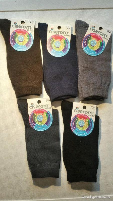 Pánské ponožky 5ks - klasické - NOVÉ - foto 1