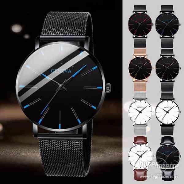Luxusní módní ultratenké křemenné hodinky z nerezové oceli