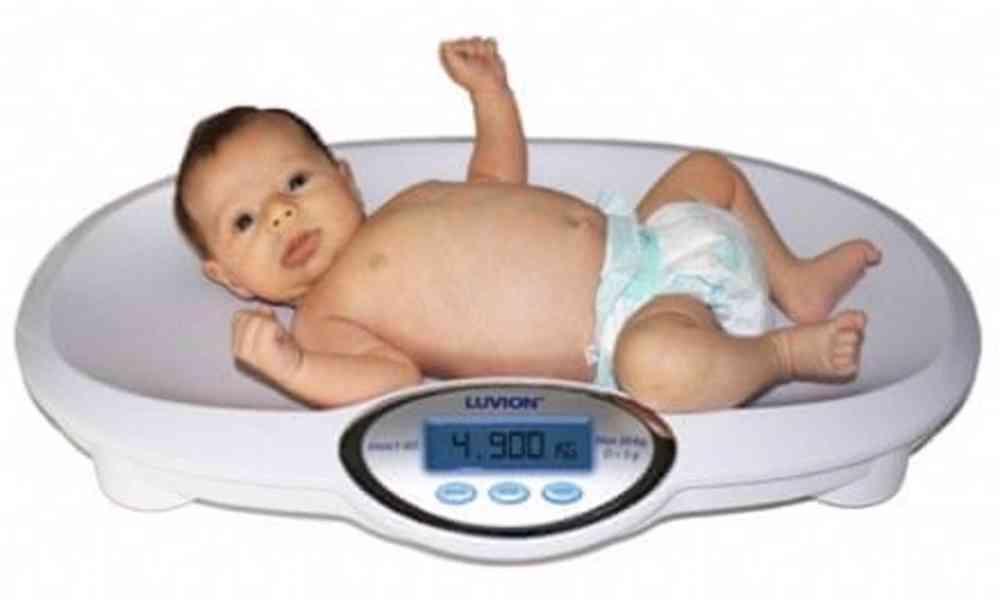 Kojenecká digitální váha