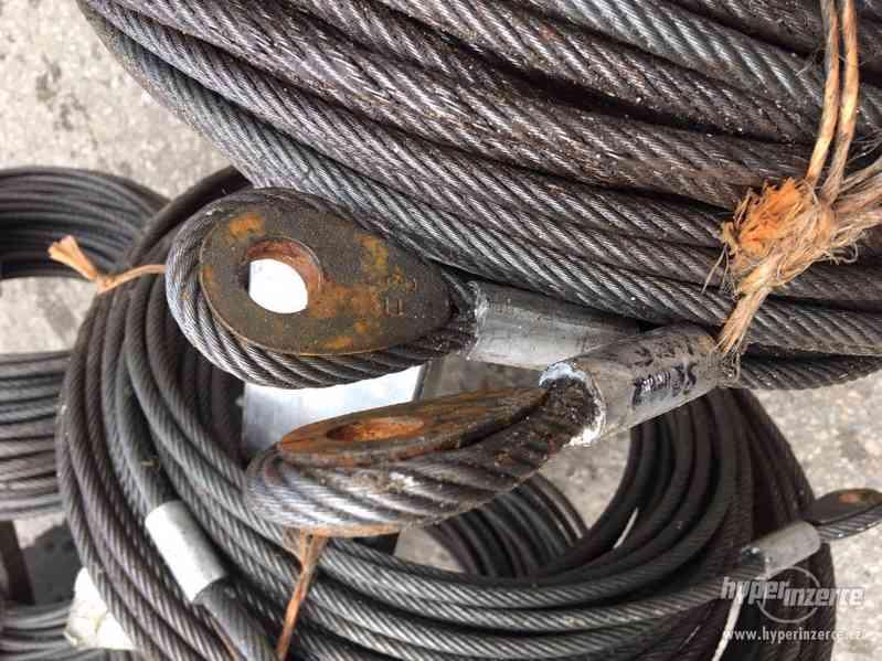 Ocelová lana s oky - foto 3