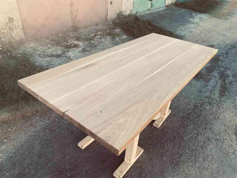 DUBOVÁ stolová masivní deska