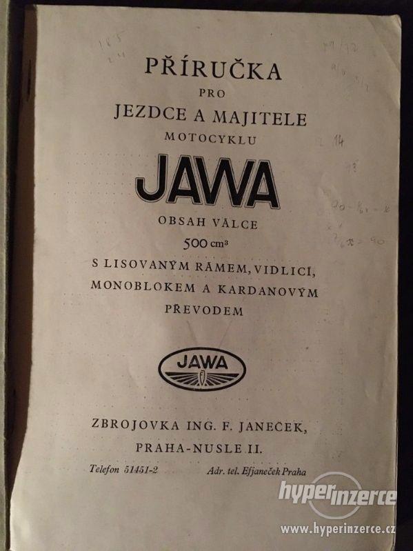 """""""Příručka pro jezdce a majitele motocyklu JAWA 500, 1929"""""""