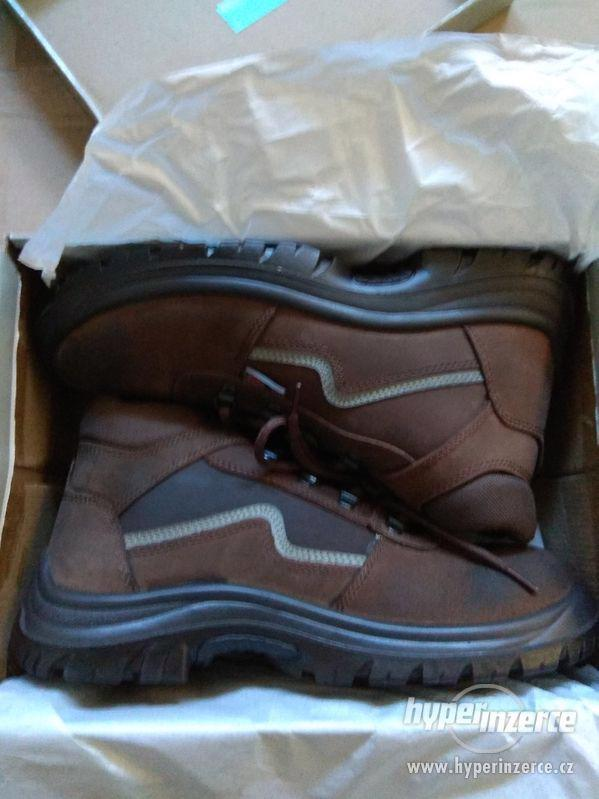 Nové pánské kožené pracovní boty Prabos č. 43 (9)