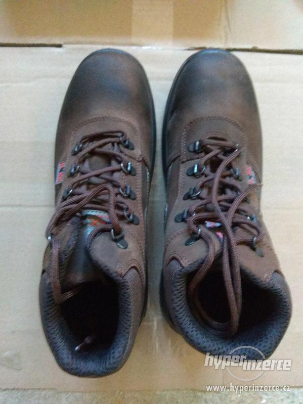 Nové pánské kožené pracovní boty Prabos č. 43 (9) - foto 2