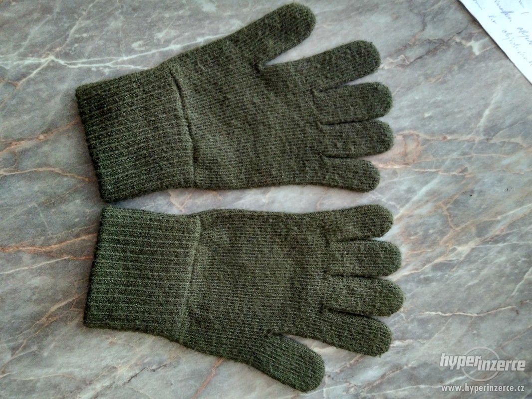 Vojenské pletené rukavice - foto 1
