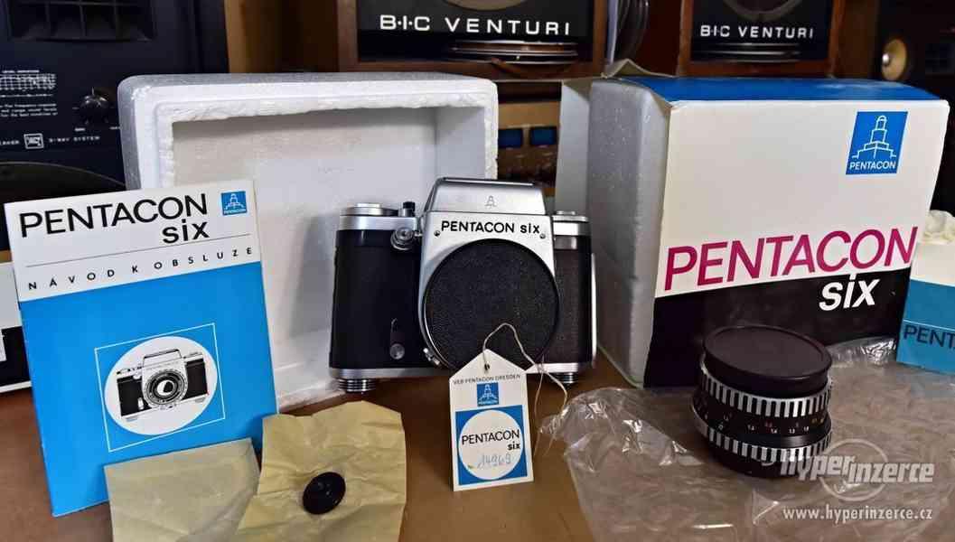Nepoužitý fotoaparát PENTACON SIX, objektiv BIOMETAR 2.8/80