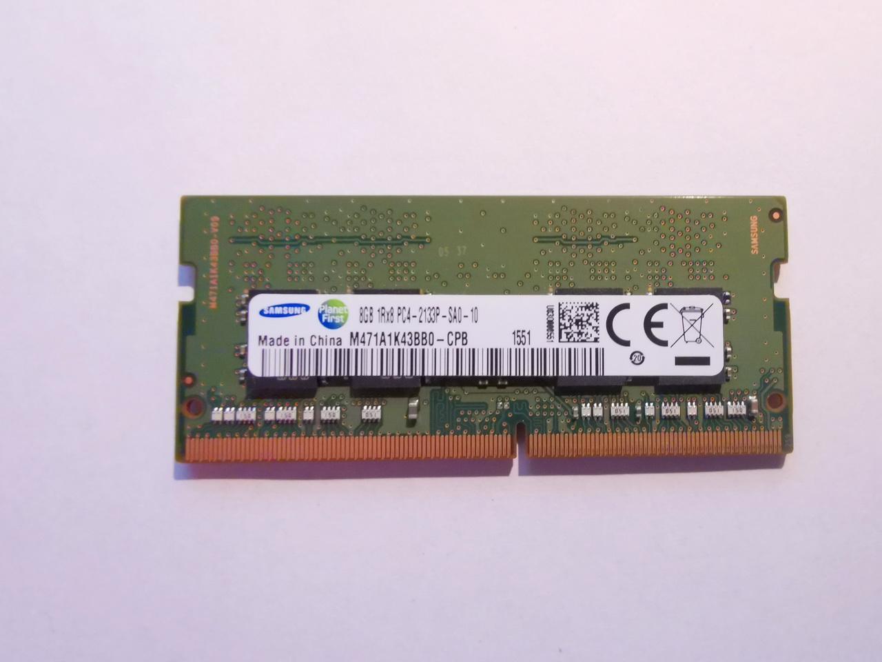 8GB RAM SODIMM DDR4 2133MHz paměť Samsung pro NTB - foto 1