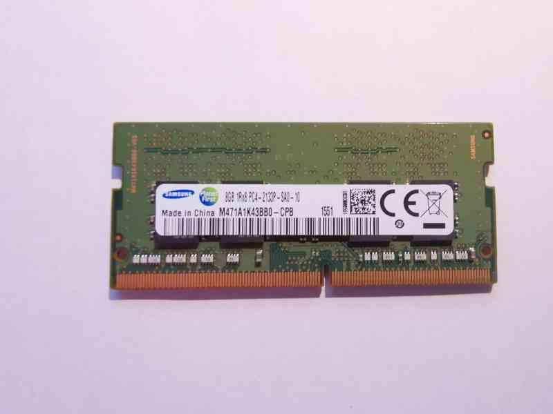 8GB RAM SODIMM DDR4 2133MHz paměť Samsung pro NTB