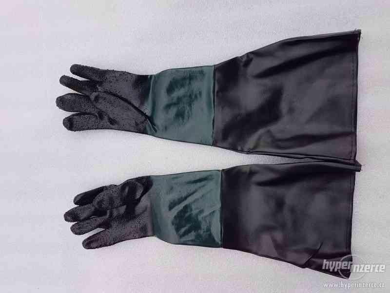 rukavice k pískovacím kabinám 350-420 l