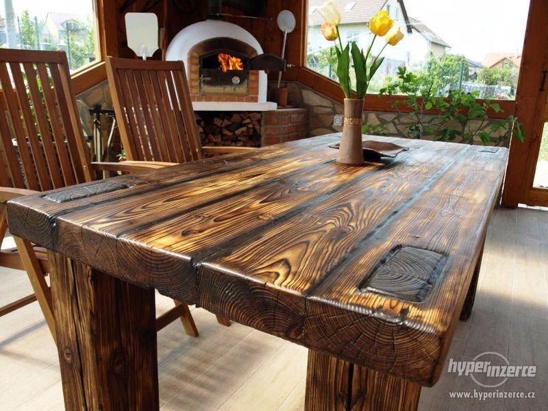 Masivní stůl - foto 1