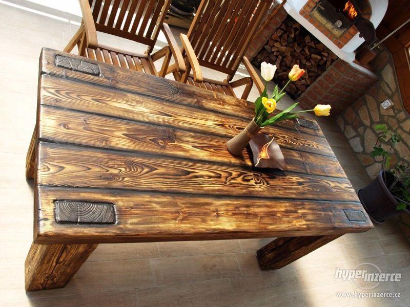 Masivní stůl - foto 3