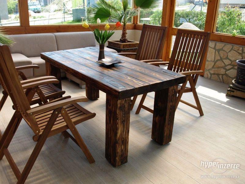 Masivní stůl - foto 4