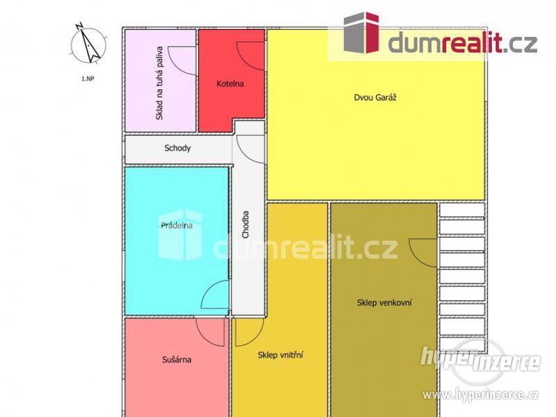 Prodej patrového rodinného domu 190 m2 s velkou garáží a zahradou 2400 m2 - foto 6