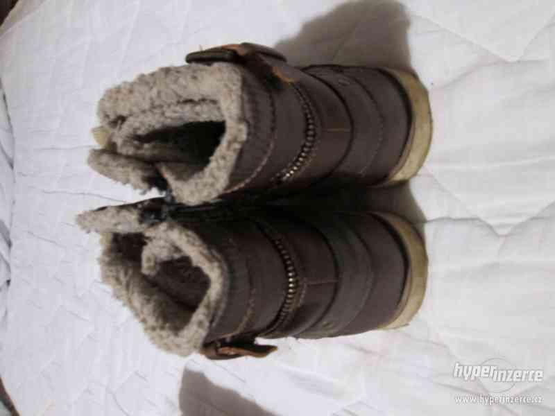 ZIMNÍ BOTY chlapecké s kožíškem, zn. VENICE (vel.37) - foto 3