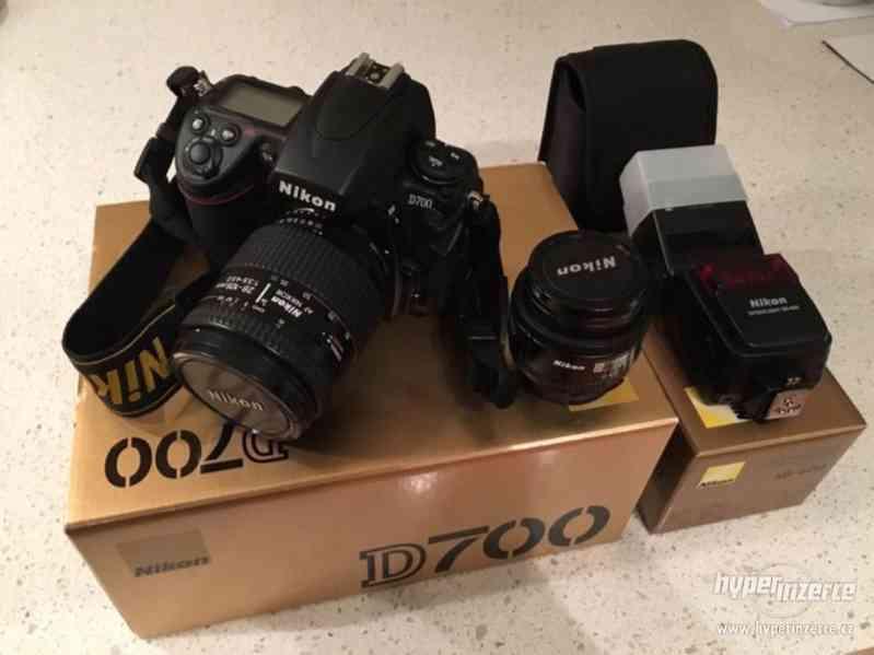 Nikon, D700-105MM a 24mm čočky, SB600 Flash