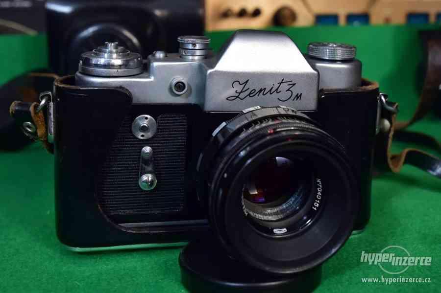 Fotoaparát Zenit 3M, objektiv Helios 44 2/58