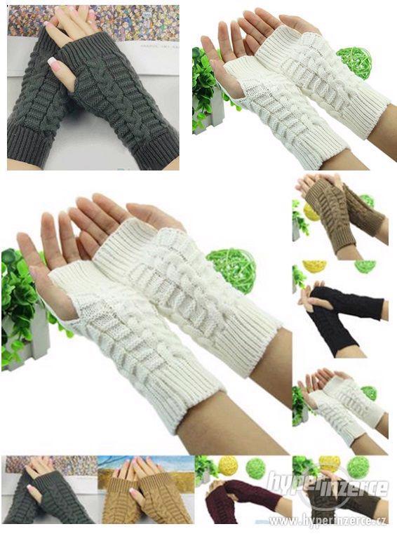 Rukavice bezprstové pletené