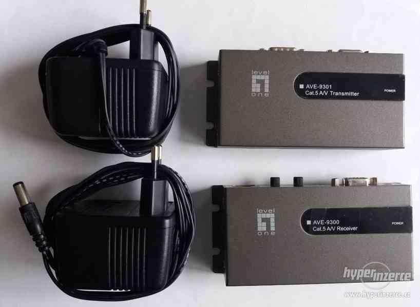 AV extender LevelOne VGA + audio