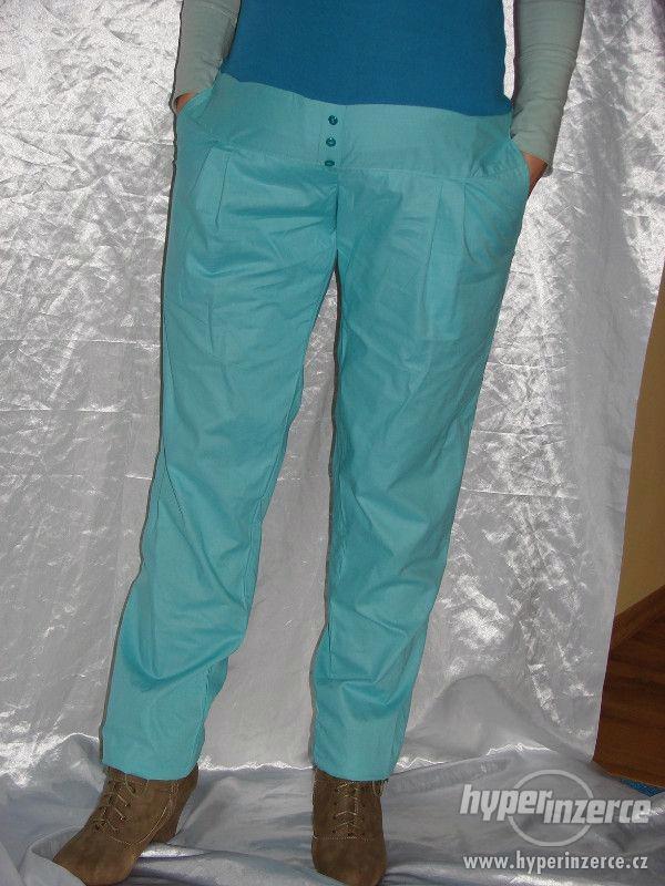 Těhotenské kalhoty bavlna na jaro-sedýlko,více barev