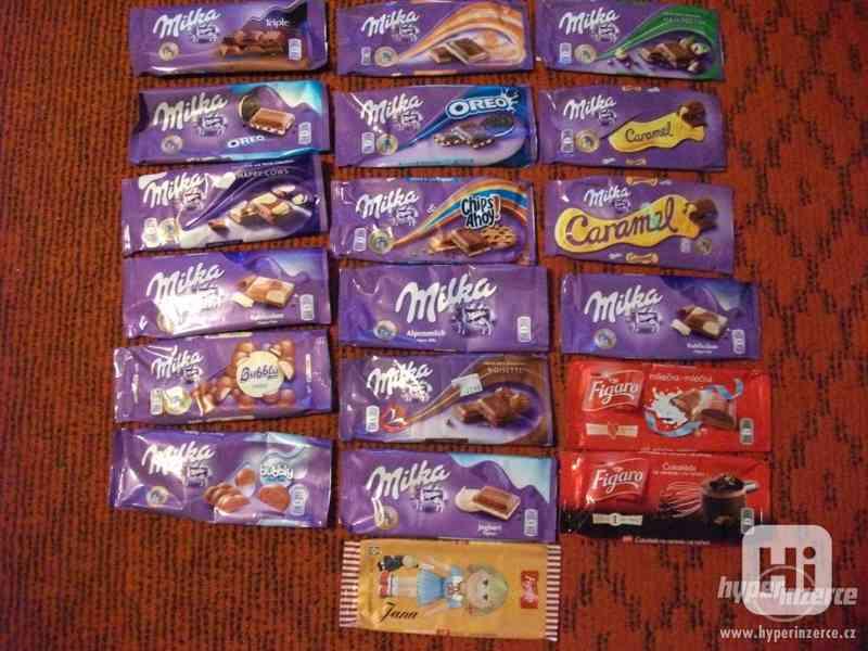 Obaly od čokolád - různé