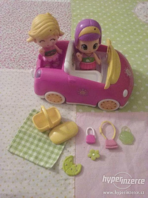 panenky Ponypon s autem a piknikovým košem