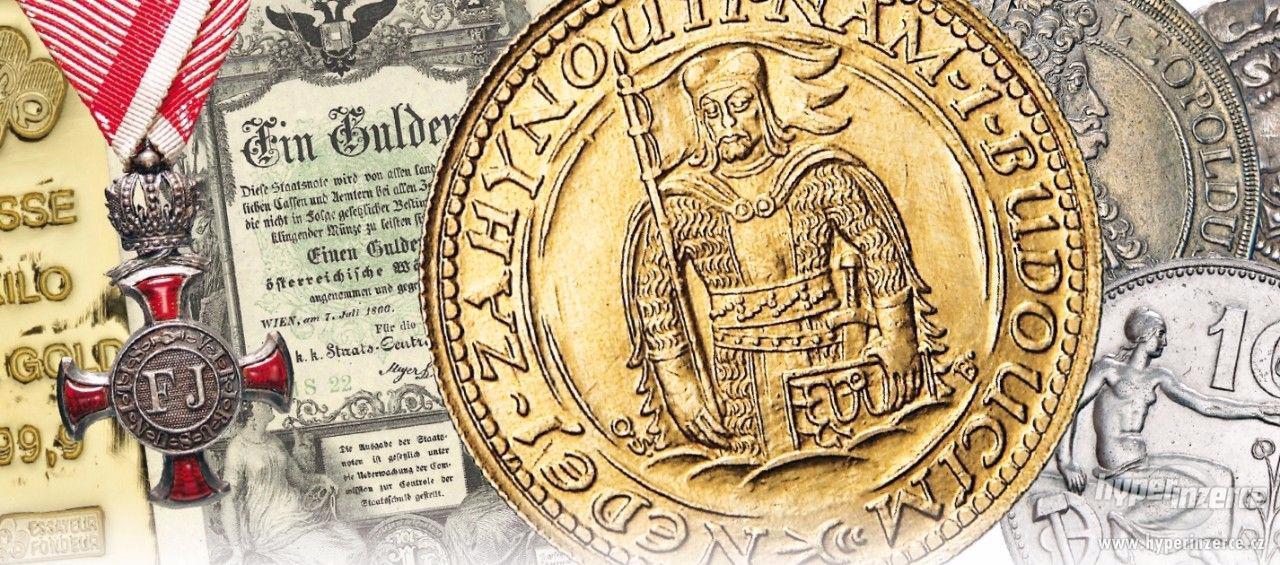 ocením, odkoupím mince, bankovky, medaile, slitky