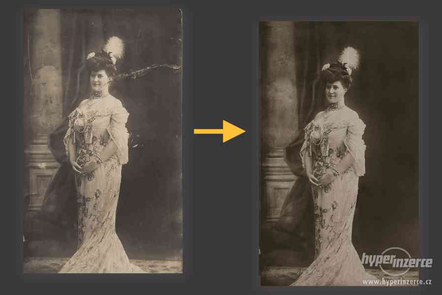 Restaurování starých či poškozených fotografií