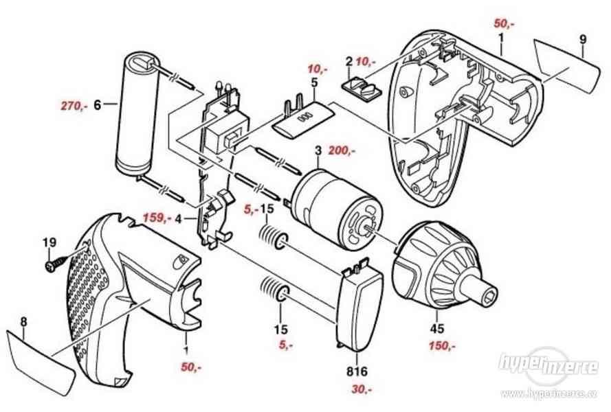 ND na šroubováky Bosch - IXO 3,6V I. a II. generace - foto 1