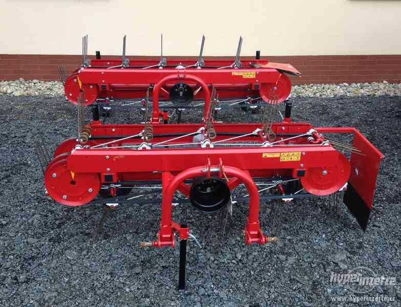 Obraceč a shrnovač sena pro traktor, malotraktor, 180 cm+