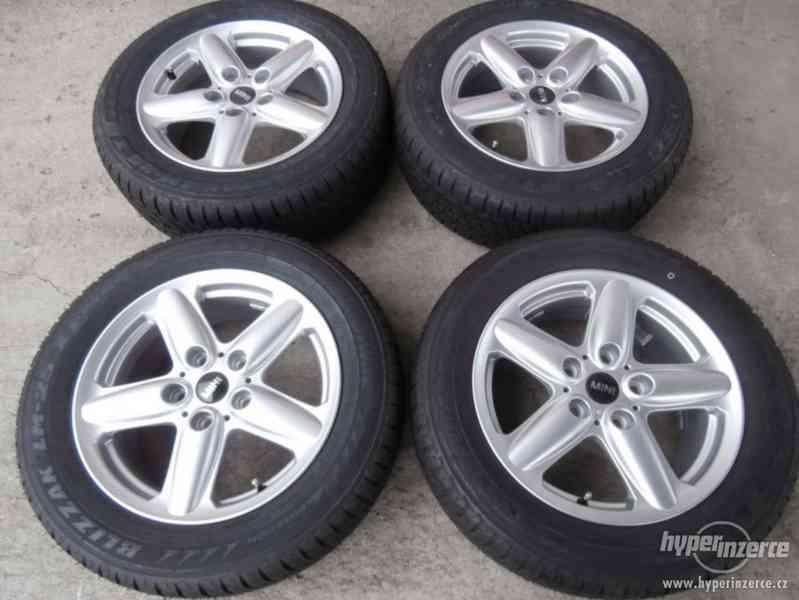 Nová sada alu + pneu rozteč 5x120 vel.16 BMW Mini