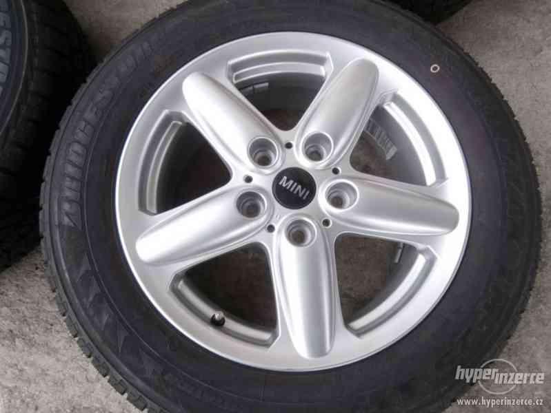 Nová sada alu + pneu rozteč 5x120 vel.16 BMW Mini - foto 2