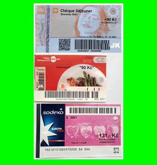 Koupím STRAVENKY - Sodexo Gastro Pass, Edenred Ticket Rest.