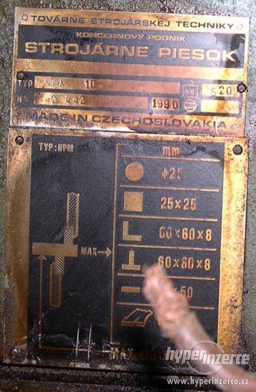 profilové nůžky NPM 10 A k.č. 0680 rok výroby 1990