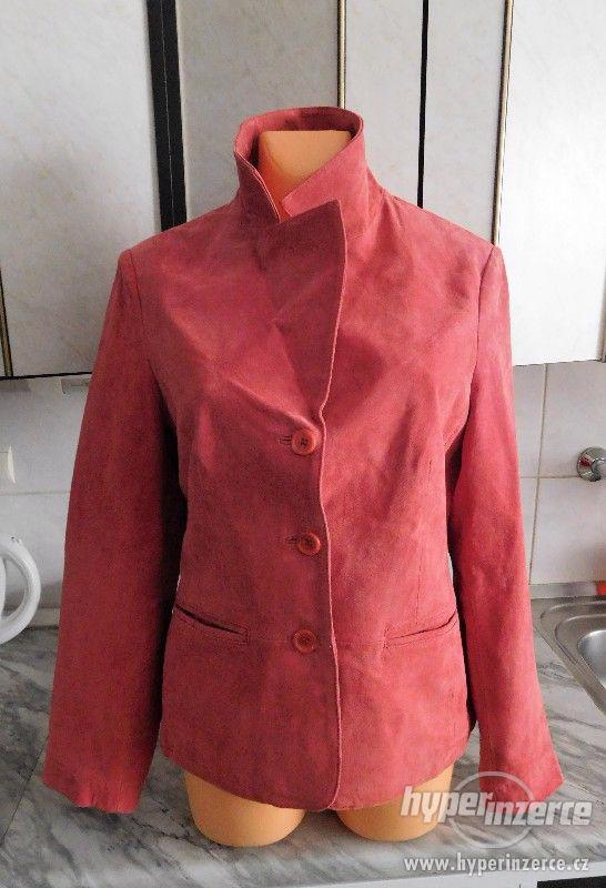 dámský kožený kabátek - sako - foto 2