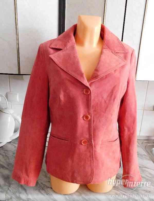 dámský kožený kabátek - sako - foto 3